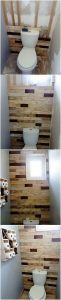 DIY Pallet Bathroom Wall Paneling