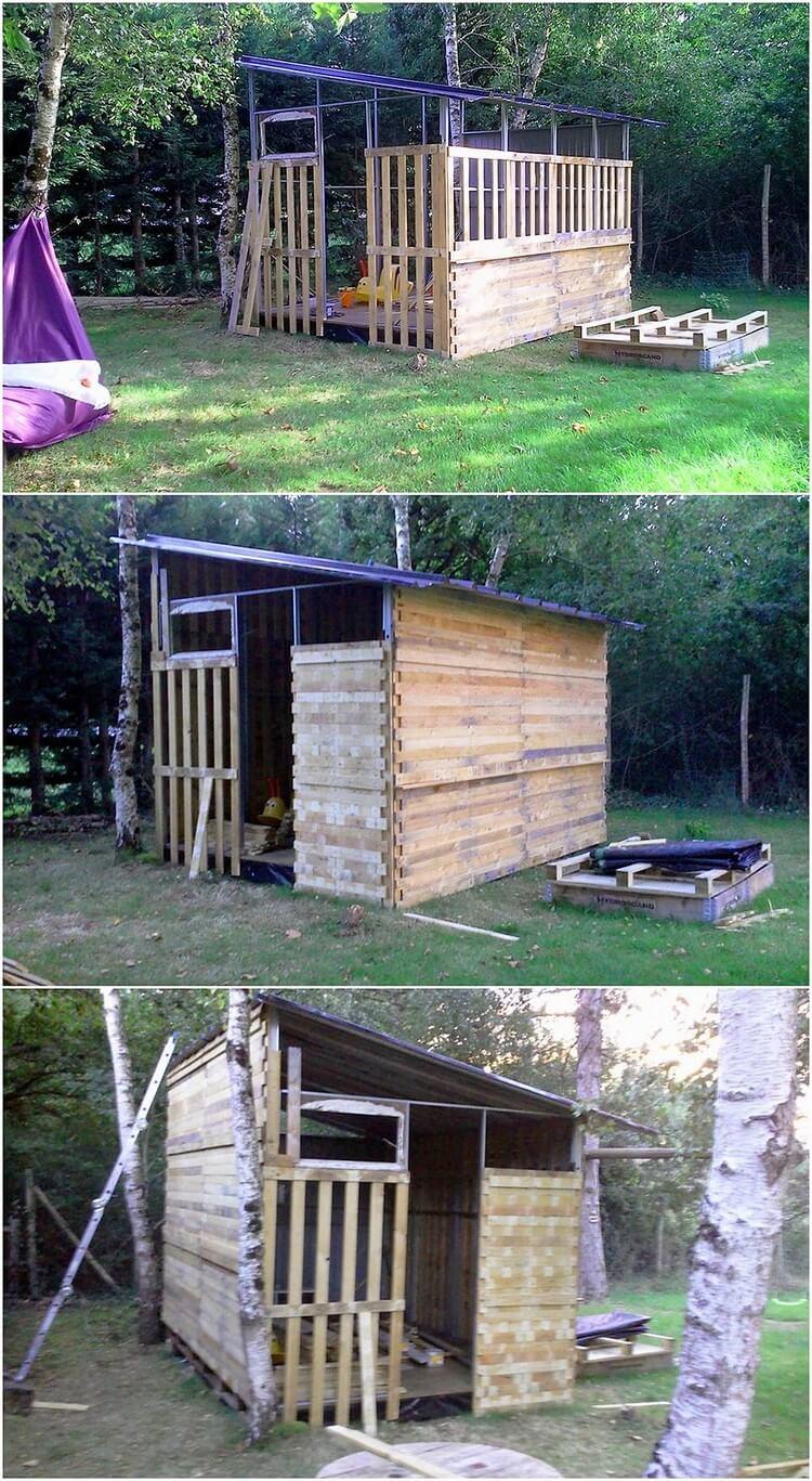 DIY Pallet Garden House