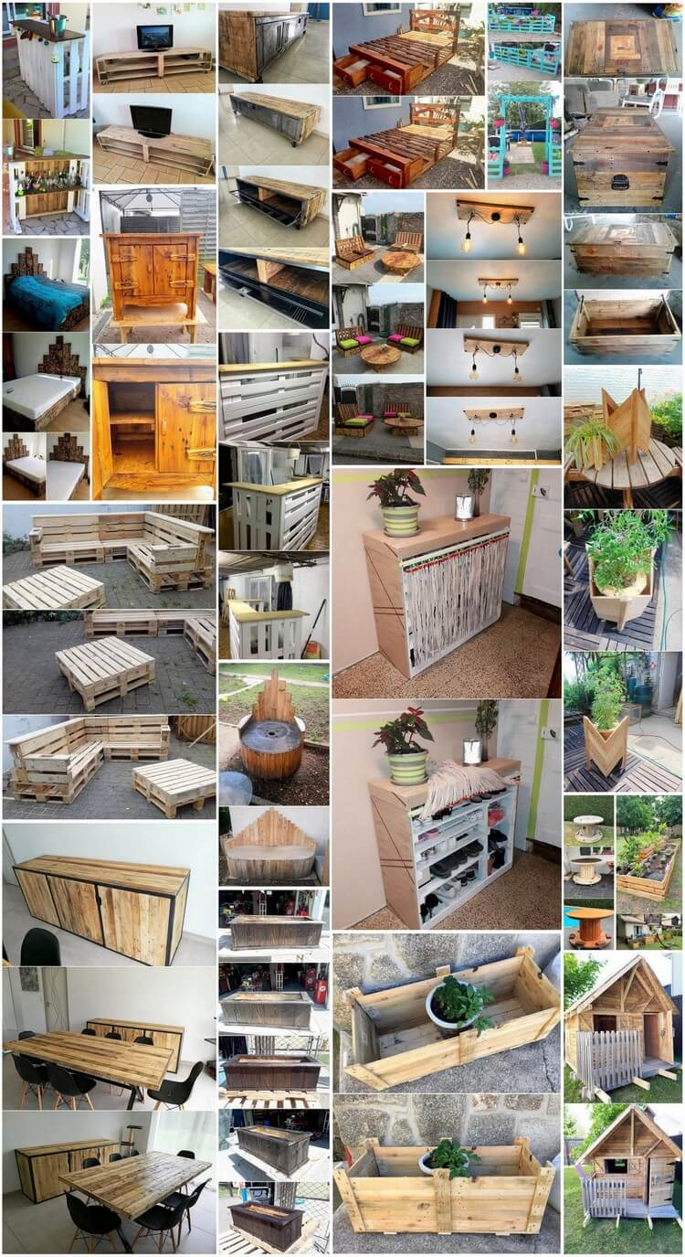 Imaginative Wood Pallet Ideas and Projects