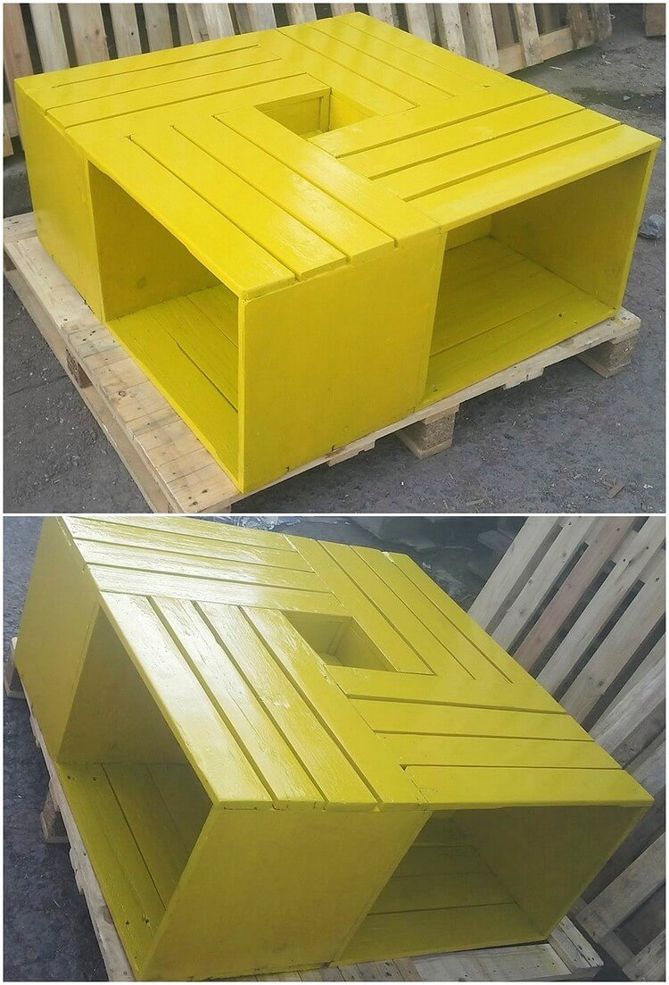 Painted Pallet Table