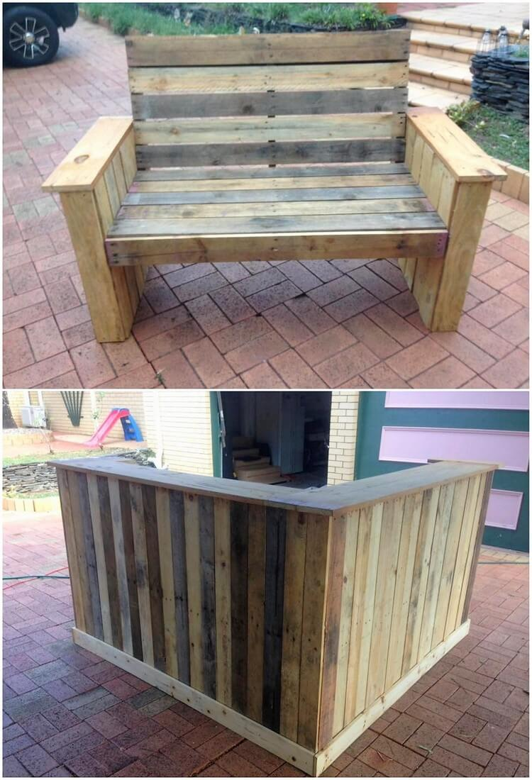 Pallet Bench and Counter Table