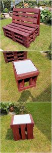 Pallet Bench and Stool