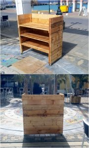 Pallet Counter Table on Wheels