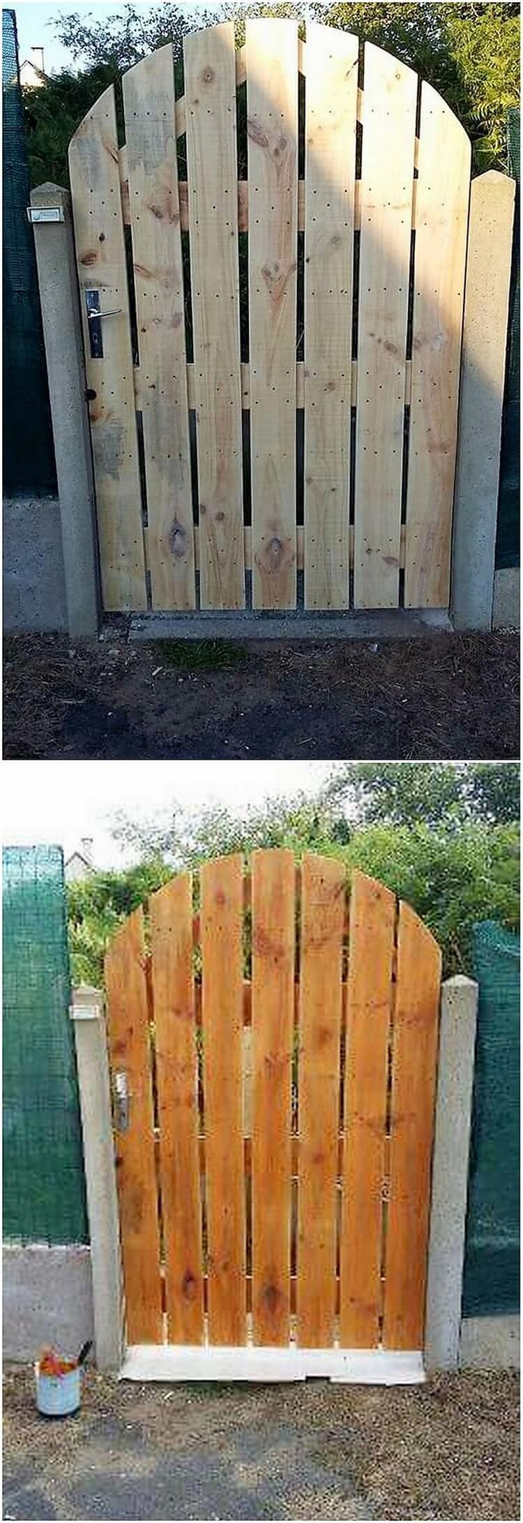 Pallet Garden Door