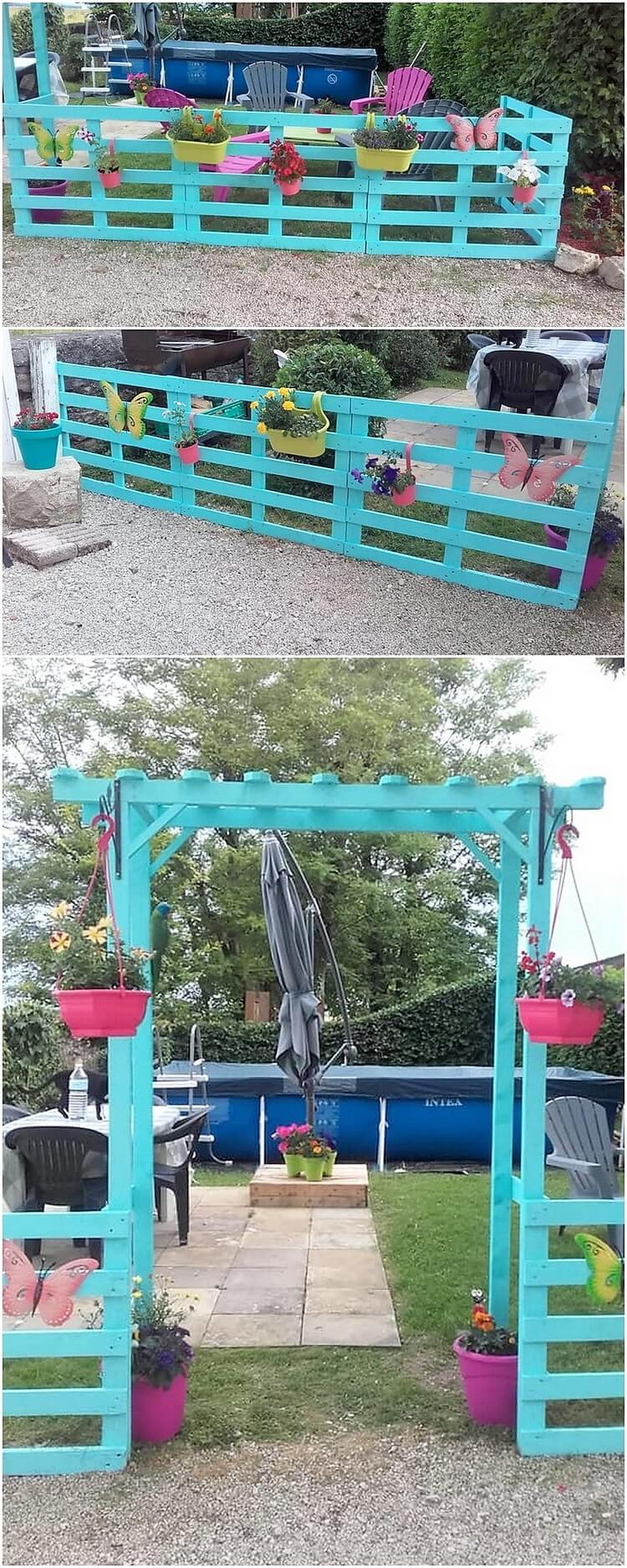 Pallet Garden Fence and Entrance