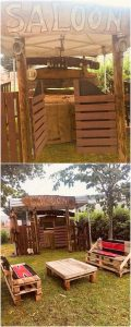 Pallet Garden Shed and Furniture