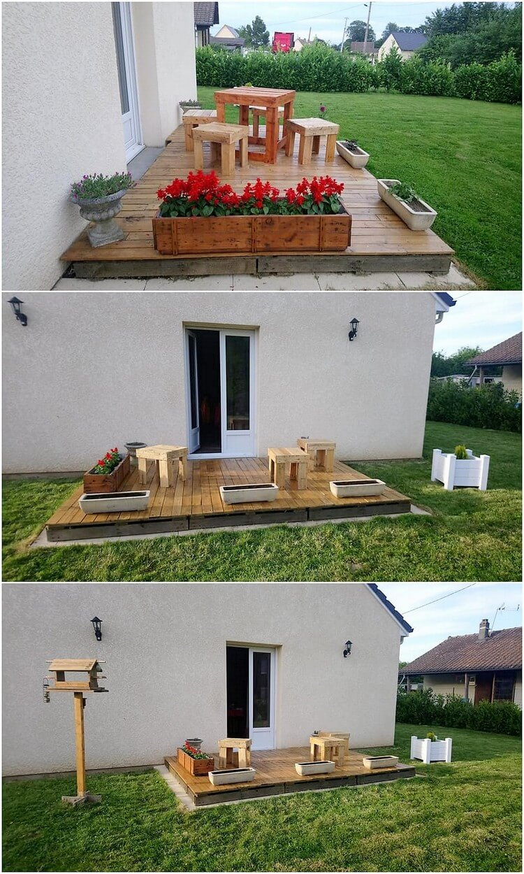 Pallet Garden Terrace with Furniture