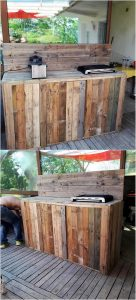 Pallet Grill Table