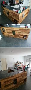 Pallet Kitchen Counter Table