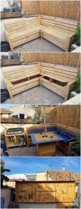 Pallet Outdoor Couch with Storage