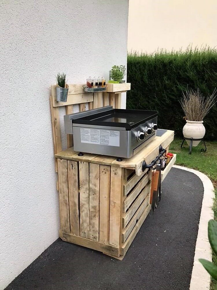 Pallet Outdoor Kitchen Plan