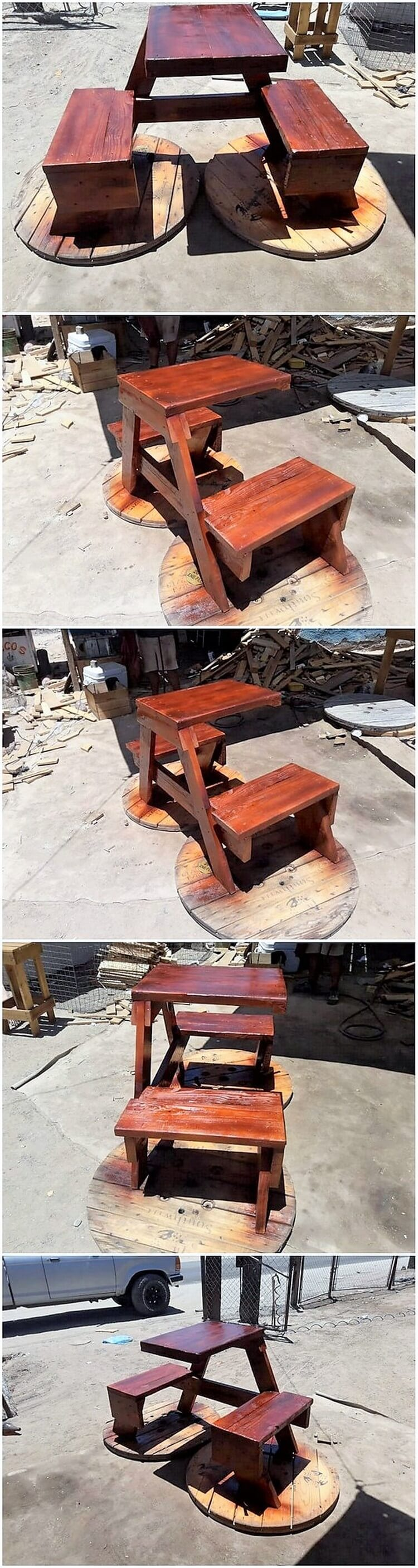 Pallet Outdoor Table with Benches