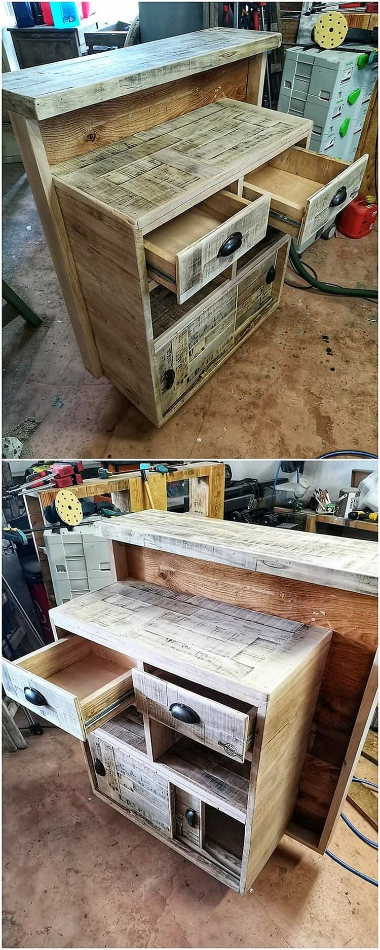 Pallet Reception Desk with Drawers