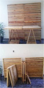 Pallet Room Divider and Table