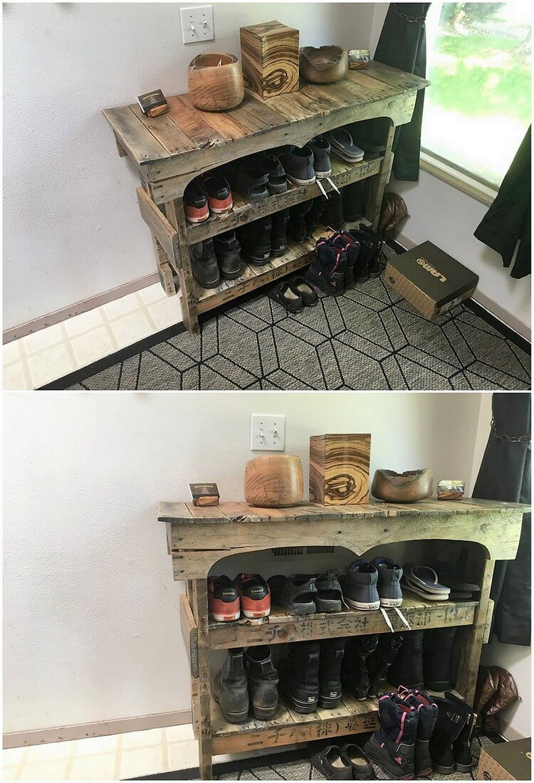 Pallet Shoe Rack or Table