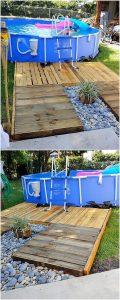 Pallet Swimming Pool Garden Deck