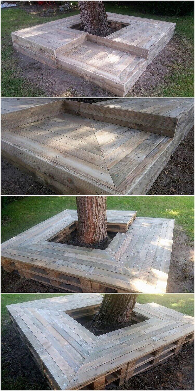 Pallet Tree Seat