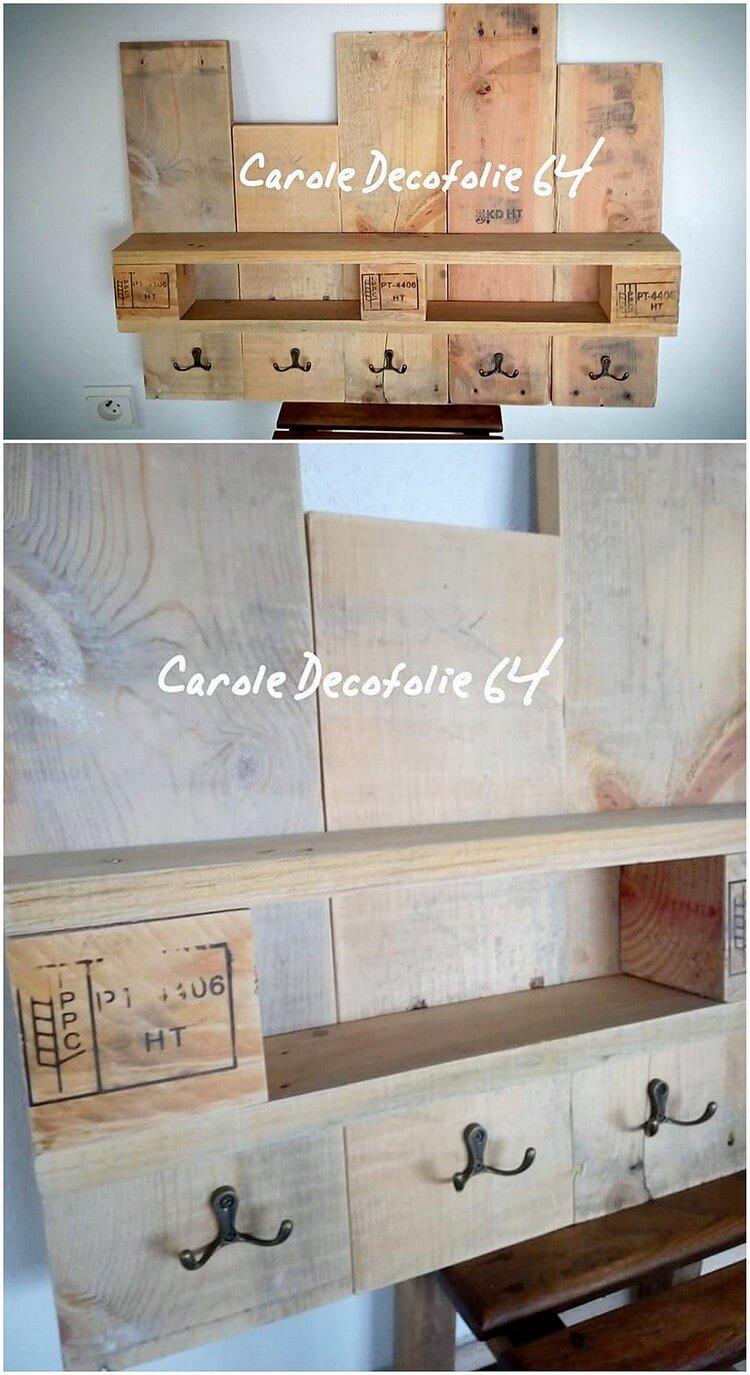Pallet Wall Coat Rack