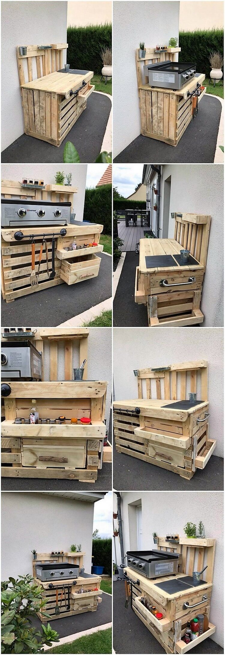 Recycled Wood Pallet Outdoor Kitchen Idea Wooden Pallet Ideas