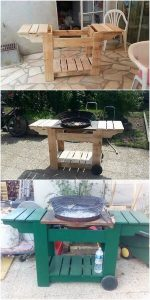 Wooden Pallet Grill Table