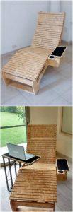 Wooden Pallet Sun Lounger