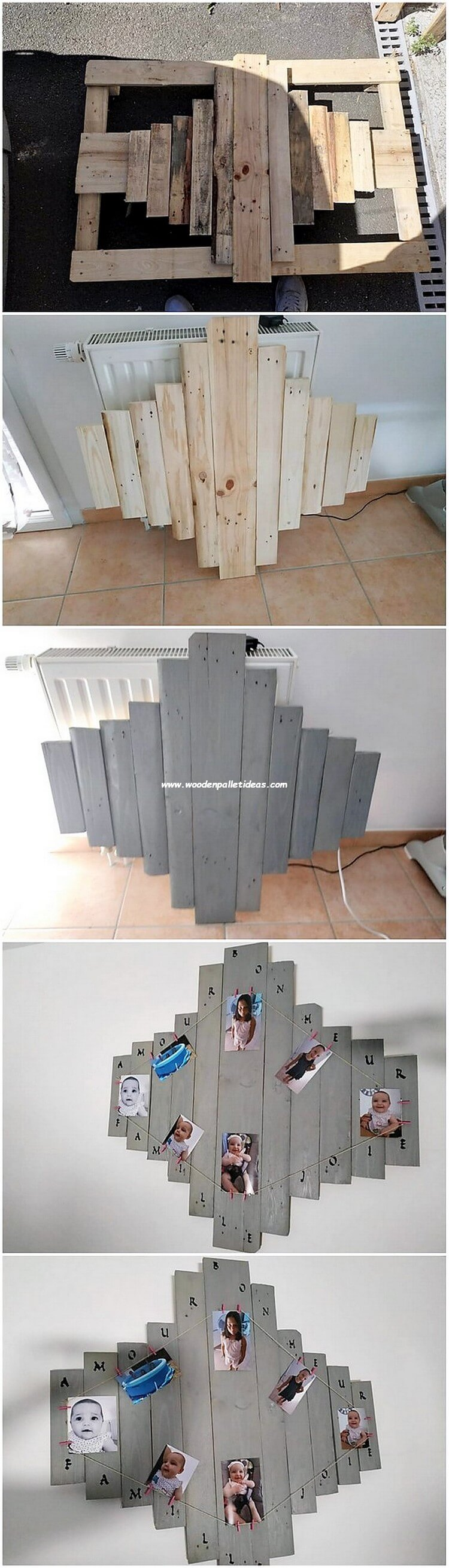 DIY Pallet Wall Decor Idea