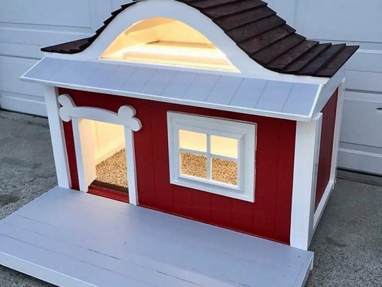 Dog House Made Out of Recycled Wood Pallets