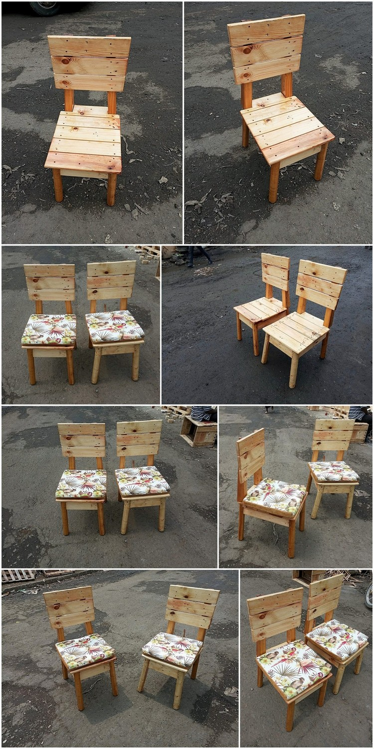 Eye Catching DIY Wooden Pallet Chairs