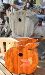 Pallet Apple Shape Birdhouse
