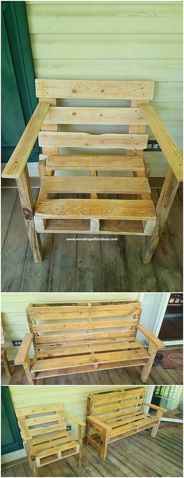 Pallet Chair and Bench