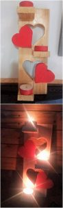 Pallet Decorative Candles Stand