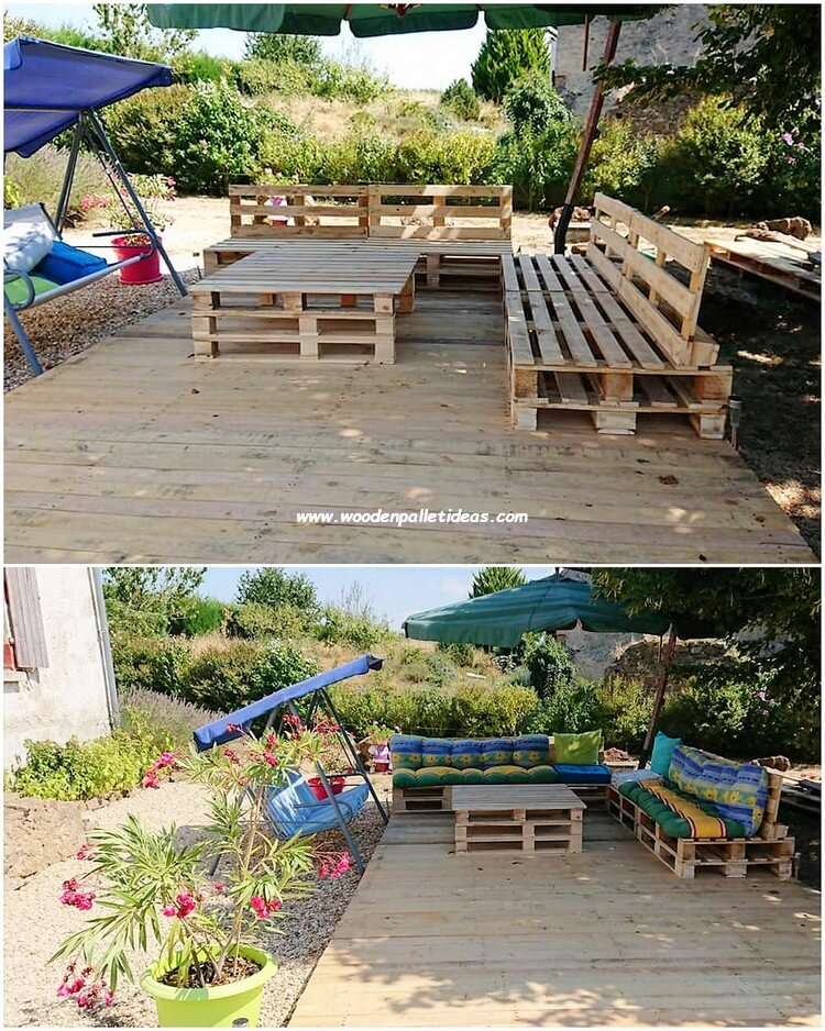 Pallet Garden Couch Set with Terrace