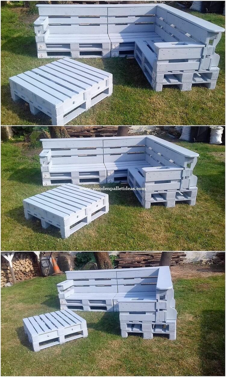 Pallet Garden Couch and Table