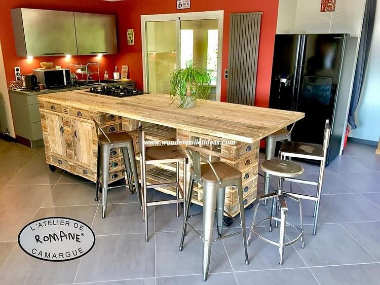 Pallet Kitchen Island Plan