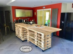 Pallet Kitchen Island or Dining Table