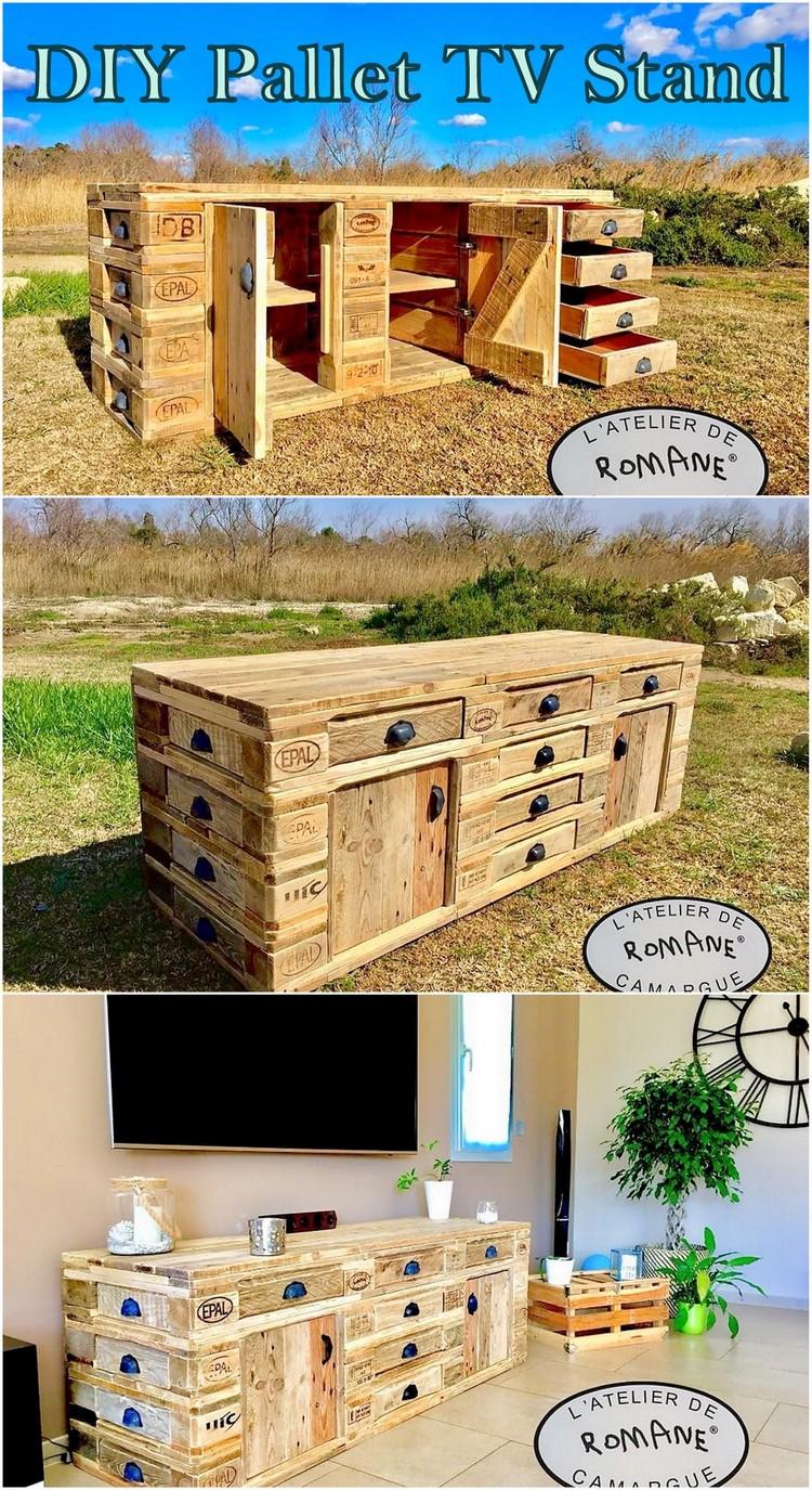 Pallet Media Cabinet or TV Stand
