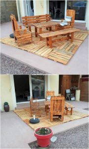Pallet Outdoor Furniture with Terrace