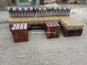 Pallet Outdoor Sofa and Tables
