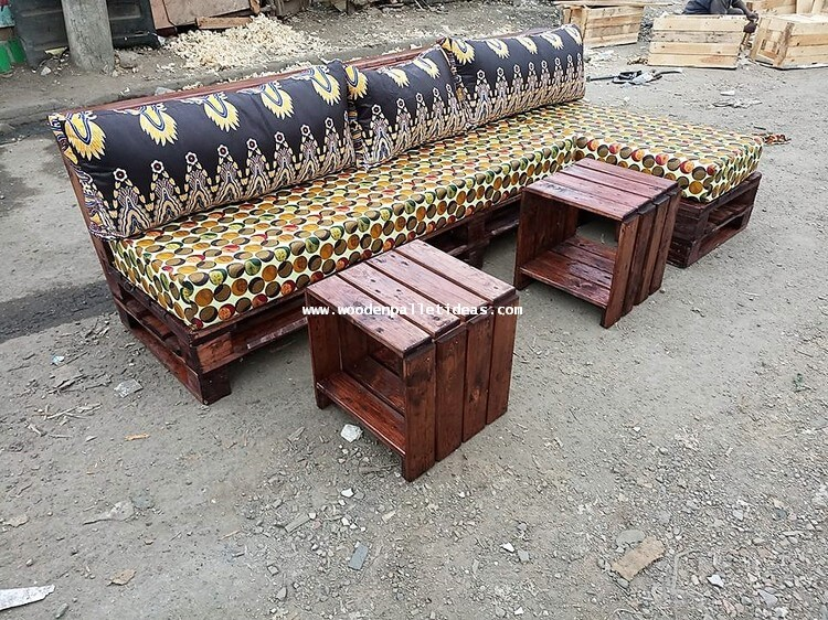 Pallet Sofa and Tables