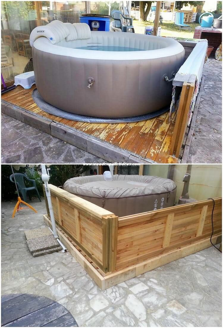 Pallet Swimming Pool Deck