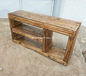 Pallet TV Stand or Shoe Rack