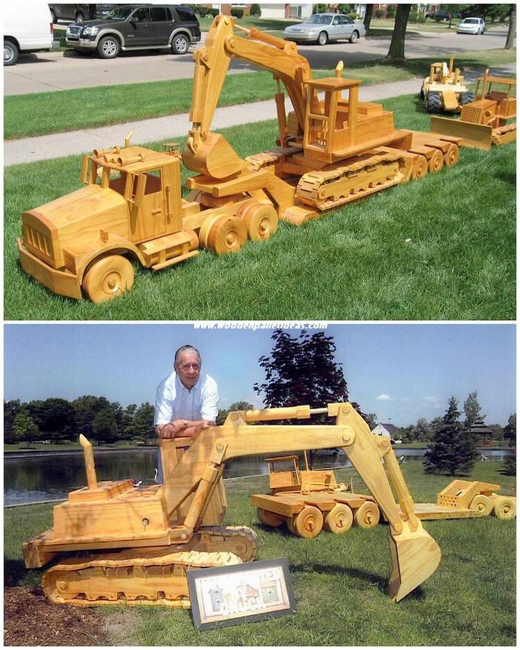 Pallet Truck and Bulldozer