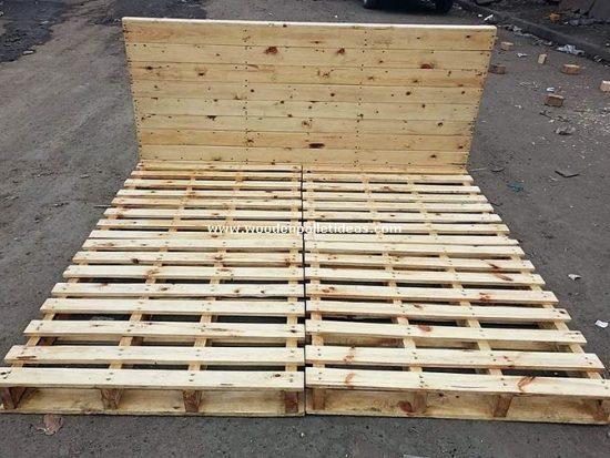 DIY Wooden Pallet Bed Frame Idea