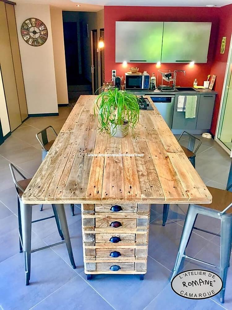 Wood Pallet Kitchen Island Table