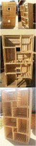 DIY Pallet Shelving Cabinet
