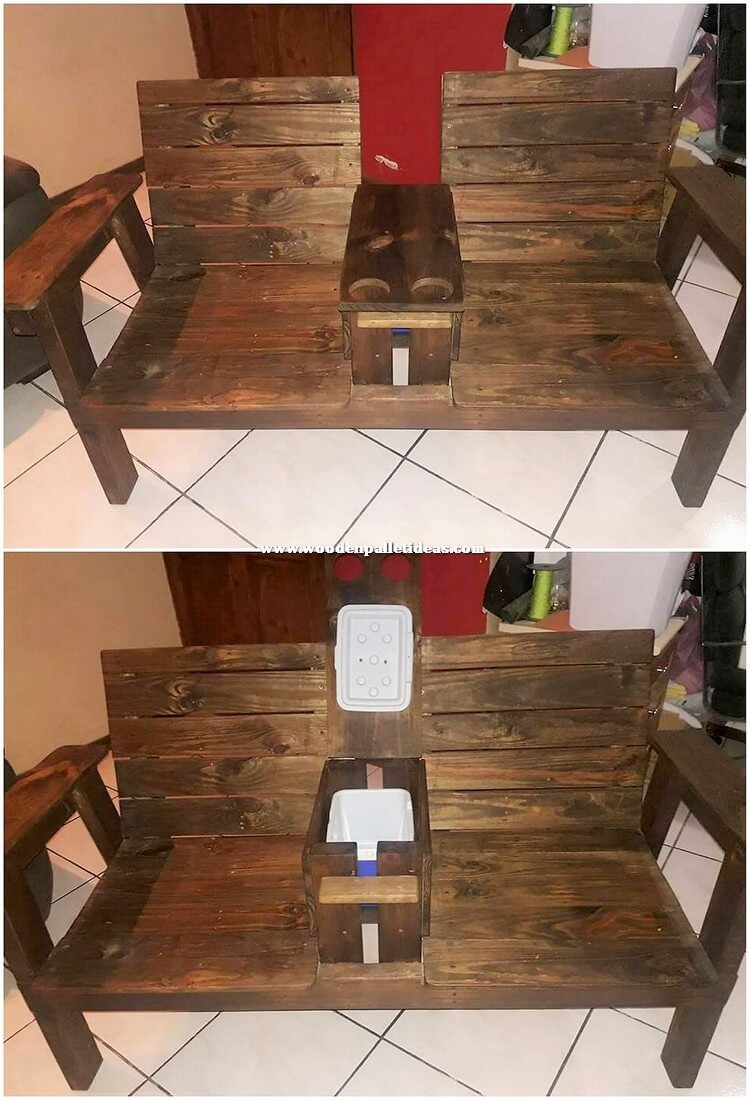 Pallet Chairs with Storage