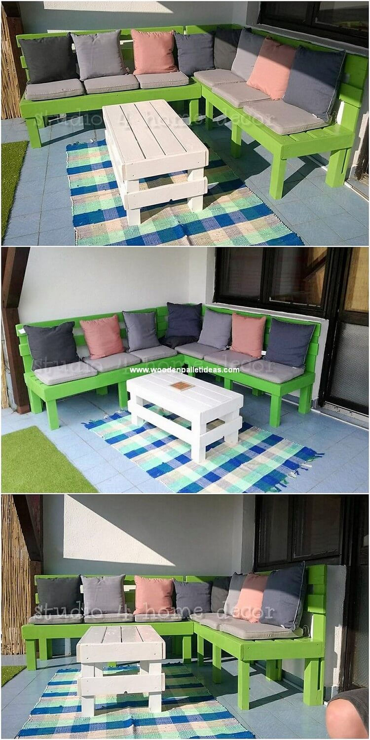 Pallet Couch and Table