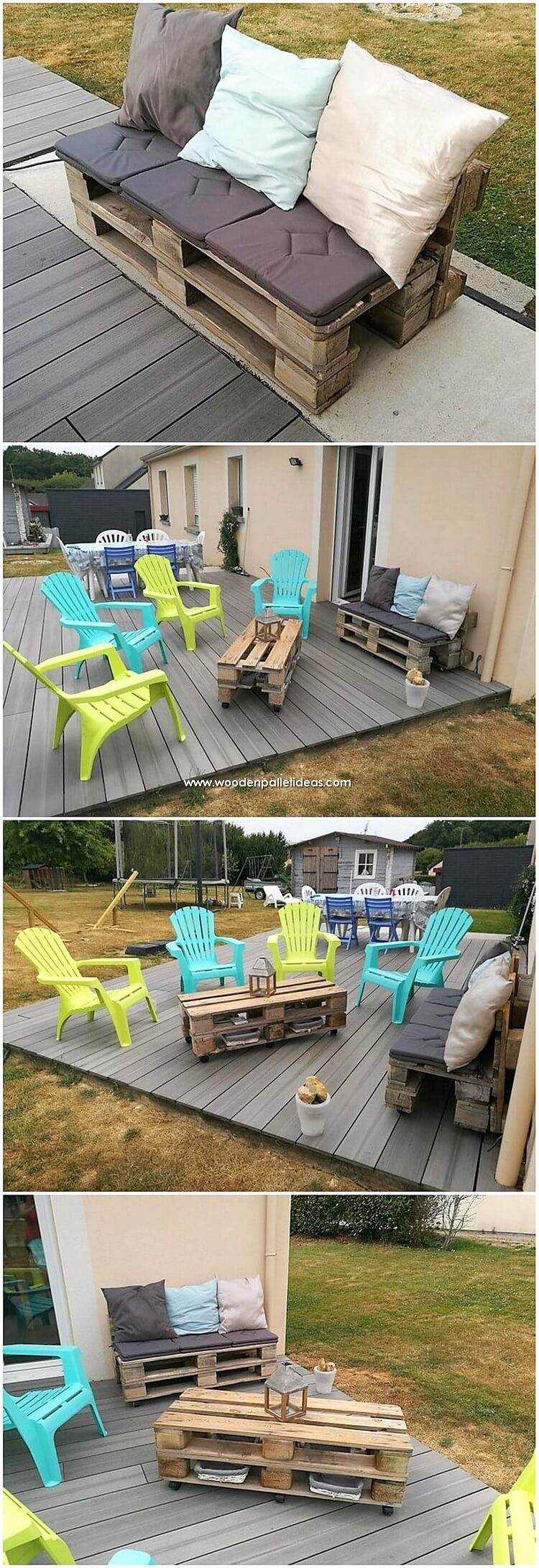 Pallet Furniture with Garden Terrace