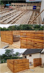 Pallet Garden Terrace and Fence