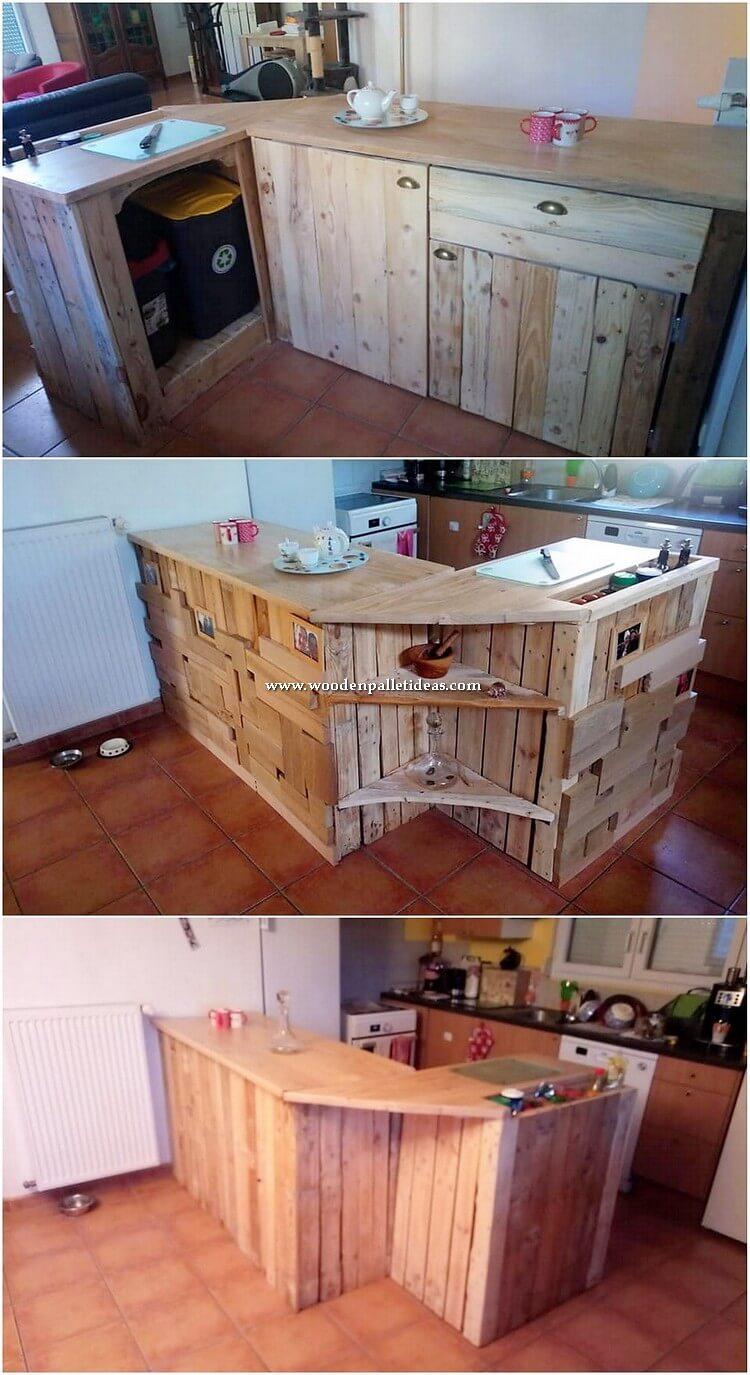 Pallet Kitchen Counter